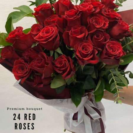 Valentine's Day - 24 red roses bouquet