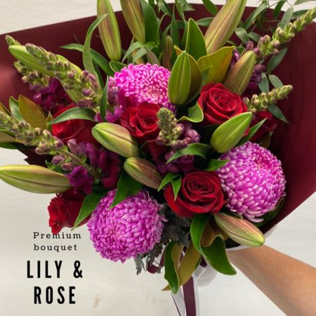 Valentine's Day - Lily & rose bouquet